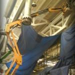 čistenie a natieranie z plošiny
