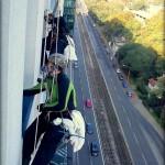 Umývanie okien horolezeckou technikou RIVER PARK