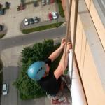 inštalácia Bannera ( PVC plachty ) na stene budovy