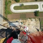 montáž vysielača na výškový komín ZOS